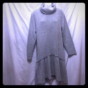Baby doll sweater dress L cowl neck